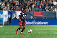 FOXBOROUGH, MA - SEPTEMBER 11: Brando Bye #15 of New England Revolution looks to pass during a game between New York City FC and New England Revolution at Gillette Stadium on September 11, 2021 in Foxborough, Massachusetts.