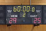 07.10.2020, Klingenhalle, Solingen,  GER, 1. HBL. Herren, Bergischer HC vs. HC Erlangen, <br /> <br /> im Bild / picture shows: <br /> Endstand 29:25<br /> <br /> <br /> Foto © nordphoto / Meuter *** Local Caption ***