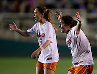 Morgan Brian, Molly Menchel, Rosie White. UCLA advanced on penalty kicks after defeating Virginia, 1-1, in regulation time at the NCAA Women's College Cup semifinals at WakeMed Soccer Park in Cary, NC.