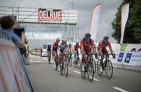 teammates Greg Van Avermaet (BEL/BMC) & Philippe Gilbert (BEL/BMC) chasing after the race leaders <br /> <br /> Belgian National Road Cycling Championships 2016<br /> Les Lacs de l'Eau d'Heure