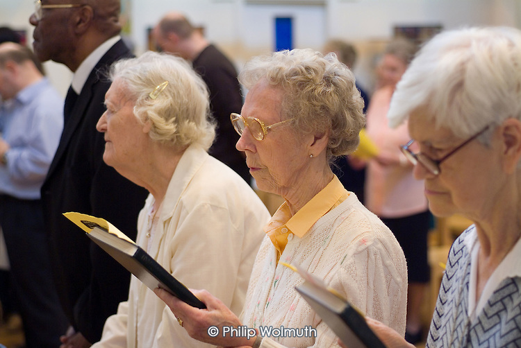 Sunday morning service at St.Paul's Church Centre, Lisson Green, London.