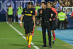 Atletico de Madrid's Filipe Luis and coach Diego Pablo Cholo Simeoneduring the match of La Liga between Club Deportivo Leganes and Atletico de Madrid at Butarque Estadium in Leganes. August 27, 2016. (ALTERPHOTOS/Rodrigo Jimenez)