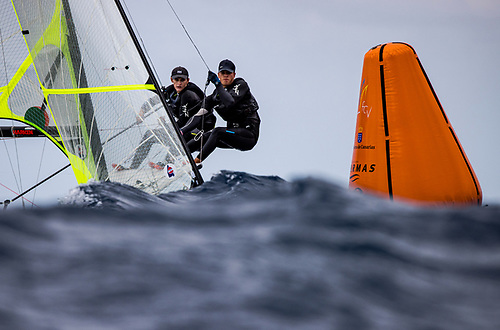 The young Irish crew of Robert Dickson and Sean Waddilove earned the final spot for Tokyo competing at the Lanzarote International Regatta in March, winning their first-ever Medal Race at the event and seizing a bronze medal ahead of a world-class fleet