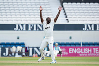 Kemar Roach appeals successfully for his fifth wicket during Surrey CCC vs Hampshire CCC, LV Insurance County Championship Group 2 Cricket at the Kia Oval on 1st May 2021