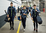 The Clare team arrive for their All-Ireland semi-final at Croke Park. Photograph by John Kelly.