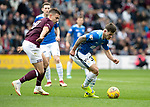 St Johnstone v Hearts…29.09.18…   Tynecastle     SPFL<br />Matty Kennedy turns Olly Lee<br />Picture by Graeme Hart. <br />Copyright Perthshire Picture Agency<br />Tel: 01738 623350  Mobile: 07990 594431