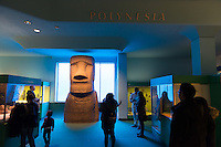Margaret Mead Hall of Pacific Peoples And Rapa Nui Monument at the American Museum of Natural History in New York