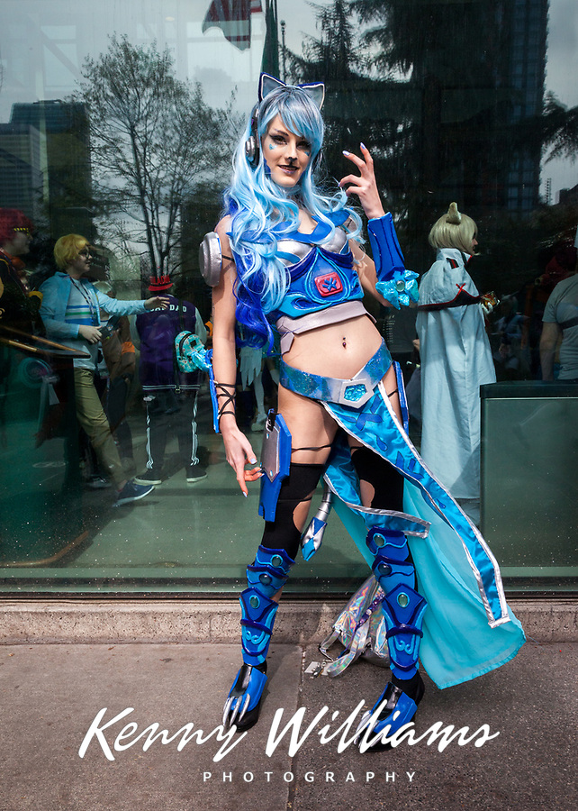 Blue Lion, Guardian Spirit of Water and Ice, Sakura Con 2018, Seattle, WA, USA.