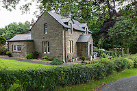 Cumbria, England, UK.  Country Cottage by Hadrian's Wall Footpath.