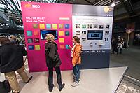 """11. re:publica-Konferenz in Berlin<br /> Vom 8. bis 10. Mai 2017 findet in Berlin die elfte re:publica-Konferenz in Berlin unter dem Motto """"Love Out Loud"""" statt. Die Veranstalter wollen mit dem Motto """"Love Out Loud!"""" (LOL fuer positiv Denkende) ein """"Zeichen fuer Engagement und Emanzipation in der digitalen Gesellschaft setzen"""".<br /> Die Konferenz zum Thema Internet und digitale Gesellschaft bietet auf bis zu 18 Buehnen parallel mehr als 500 Stunden Programm. Ein guter Teil davon dreht sich um netzpolitische Fragestellungen aller Art. Erwartet werden ca. 8.000 Veranstaltungsteilnehmer.<br /> Im Bild: Eine Wand mit vermeindlichen und tatsaechlichen Fake-News am Stand des ZDF.<br /> 8.5.2017, Berlin<br /> Copyright: Christian-Ditsch.de<br /> [Inhaltsveraendernde Manipulation des Fotos nur nach ausdruecklicher Genehmigung des Fotografen. Vereinbarungen ueber Abtretung von Persoenlichkeitsrechten/Model Release der abgebildeten Person/Personen liegen nicht vor. NO MODEL RELEASE! Nur fuer Redaktionelle Zwecke. Don't publish without copyright Christian-Ditsch.de, Veroeffentlichung nur mit Fotografennennung, sowie gegen Honorar, MwSt. und Beleg. Konto: I N G - D i B a, IBAN DE58500105175400192269, BIC INGDDEFFXXX, Kontakt: post@christian-ditsch.de<br /> Bei der Bearbeitung der Dateiinformationen darf die Urheberkennzeichnung in den EXIF- und  IPTC-Daten nicht entfernt werden, diese sind in digitalen Medien nach §95c UrhG rechtlich geschuetzt. Der Urhebervermerk wird gemaess §13 UrhG verlangt.]"""