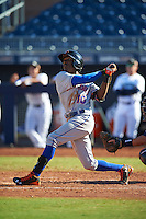 Scottsdale Scorpions Champ Stuart (10), of the New York Mets organization, during a game against the Peoria Javelinas on October 22, 2016 at Peoria Stadium in Peoria, Arizona.  Peoria defeated Scottsdale 3-2.  (Mike Janes/Four Seam Images)