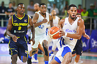 BARRANQUILLA - COLOMBIA, 03-08-2018: Puerto Rico y Colombia en partido categoría Baloncesto masculino por la medalla de oro y plata como parte de los Juegos Centroamericanos y del Caribe Barranquilla 2018. /  Puerto Rico and Colombia in match of men's basketball category for the gold and silver medal as part of the Central American and Caribbean Sports Games Barranquilla 2018. Photo: VizzorImage /  Alfonso Cervantes / Cont