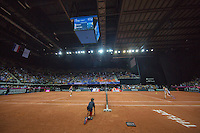 Arena Loire,  Trélazé,  France, 16 April, 2016, Semifinal FedCup, France-Netherlands, overall vieuw<br /> Photo: Henk Koster/Tennisimages