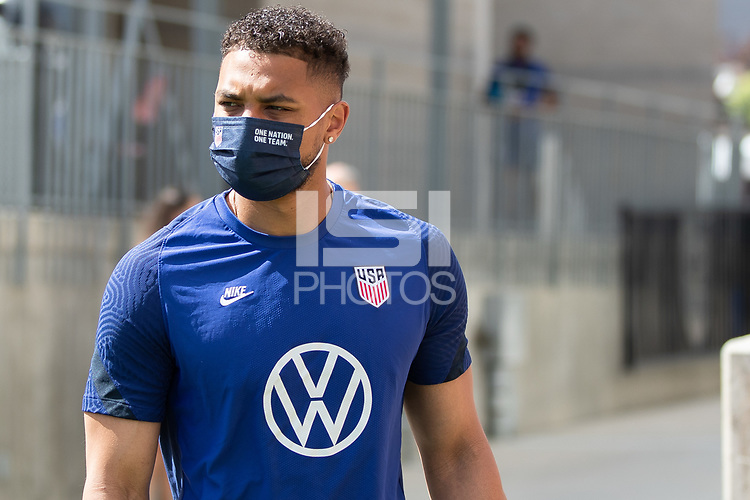 SANDY, UT - JUNE 8: Zack Steffen of the United States during a training session at Rio Tinto Stadium on June 8, 2021 in Sandy, Utah.