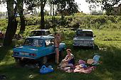 Izyum, Ukraine.July 31, 2005 ..Life by the Siverskiy Donets river