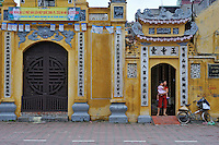 Ornate buildings in the city centre of Hanoi, Vietnam