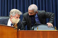 Chairman United States Representative Frank Pallone (Democrat of New Jersey), left, talks to Dr. Anthony Fauci, Director, National Institute for Allergy and Infectious Diseases, National Institutes of Health, during a House Committee on Energy and Commerce hearing on the Trump Administration's Response to the COVID-19 Pandemic, on Capitol Hill in Washington, DC on Tuesday, June 23, 2020. <br /> Credit: Kevin Dietsch / Pool via CNP/AdMedia