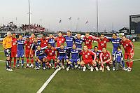 Kansas City Wizrads and Toronto FC starting lineups. Toronto FC defeated Kansas City Wizards 3-2 at Community America Ballpark, Kansas City, Kansas. March 21, 2009.