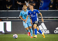 SAN JOSE, CA - AUGUST 17: Paul Marie during a game between Minnesota United FC and San Jose Earthquakes at PayPal Park on August 17, 2021 in San Jose, California.