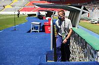GUADALAJARA, MEXICO - MARCH 18: USMNT U23 head coach Jason Kreis before a game between Costa Rica and USMNT U-23 at Estadio Jalisco on March 18, 2021 in Guadalajara, Mexico.