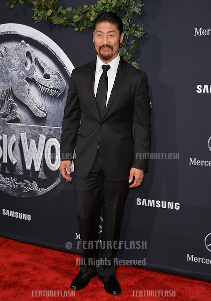 """Brian Tee at the world premiere of his movie """"Jurassic World"""" at the Dolby Theatre, Hollywood.<br /> June 10, 2015  Los Angeles, CA<br /> Picture: Paul Smith / Featureflash"""