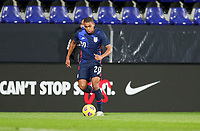 WIENER NEUSTADT, AUSTRIA - NOVEMBER 16: Reggie Cannon #20 of the United States  moves with the ball during a game between Panama and USMNT at Stadion Wiener Neustadt on November 16, 2020 in Wiener Neustadt, Austria.