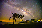 This print hangs in the gallery at the Tallahassee International Airport now- The Milky Way over Shell Point Beach along the Forgotten Coast of the north Florida panhandle in Wakulla County, Florida