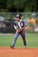 Austin Stracener (8) during the WWBA World Championship at Lee County Player Development Complex on October 11, 2020 in Fort Myers, Florida.  Austin Stracener, a resident of New Braunfels, Texas who attends Canyon High School, is committed to Texas A&M.  (Mike Janes/Four Seam Images)