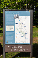 New River Gorge National Park, West Virginia.  Information Sign and Map.
