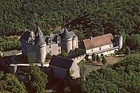 Europe/France/Aquitaine/24/Dordogne/Vallée de la Dordogne/Périgord/Périgord noir/Env de Sainte-Mondane: Le Château de Fénélon (XIIIème, XVIème et XVIIème)