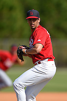 St. Louis Cardinals pitcher Steven Farinaro (48) during practice before a minor league spring training game against the New York Mets on April 1, 2015 at the Roger Dean Complex in Jupiter, Florida.  (Mike Janes/Four Seam Images)