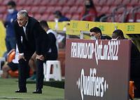 4th June 2021; Beira-Rio Stadium, Porto Alegre, Brazil; Qatar 2022 qualifiers; Brazil versus Ecuador; Brazil manager Tite watches the game closely