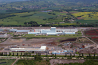 Aerial view of Corus Steelworks in Newport south Wales