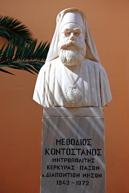 Statue of Methodios Kontostanos, Corfu Greek Cyclades Island