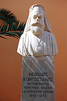 Statue of Methodios Kontostanos, Corfu Greek Cyclades Island