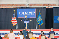Eric Trump, son of US president Donald Trump, speaks during a Make America Great Again! campaign rally at the DoubleTree by Hilton Manchester Downtown in Manchester, New Hampshire, on Mon., Oct. 19, 2020. The audience chairs are distanced to follow safety protocols during the ongoing Coronavirus (COVID-19) global pandemic, just a few weeks after Donald Trump himself contracted the disease, though many other Trump campaign events are lax about COVID safety protocols.
