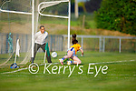 Tipperary keeper Caoileann Grogan unable to stop Kerrys penalty in the Munster LGFA U14 football championship
