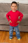 Portrait of 3 year old boy, full length