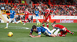 Lee Wallace fouled by Johnny Hayes for a penalty kick