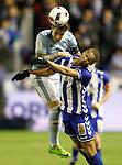 Deportivo Alaves' Deyverson Silva (r) and Celta de Vigo's Hugo Mallo during Spanish Kings Cup semifinal 2nd leg match. February 08,2017. (ALTERPHOTOS/Acero)