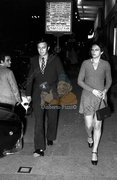 SANDRA MILO CON IL MARITO OTTAVIO DE LOLLIS<br /> ROMA 1972