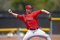 Boston Red Sox Ben Taylor (54) during a minor league Spring Training game against the Tampa Bay Rays on March 23, 2016 at Charlotte Sports Park in Port Charlotte, Florida.  (Mike Janes/Four Seam Images)