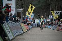 An emotional Wout Van Aert (BEL/Crelan-Vastgoedservice) is Belgian National Champion for the very first time<br /> <br /> 2016 Belgian National CX Championships