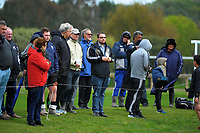 Fans (and media) watch the rugby match between  New Zealand Schools Barbarians and NZ Maori Under-18 at the Sport and Rugby Institute in Palmerston North, New Zealand on Monday, 2 October 2017. Photo: Dave Lintott / lintottphoto.co.nz