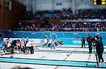 Sochi 2014 - Wheelchair Curling // Curling en fauteuil roulant.<br /> Canada competes against USA in Wheelchair Curling round robin play // Le Canada affronte les États-Unis dans le tournoi à la ronde de curling en fauteuil roulant. 10/03/2014.