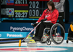 Ina Forrest, PyeongChang 2018 - Wheelchair Curling // Curling en fauteuil roulant.<br /> Canada plays Sweden in Wheelchair curling // Le Canada affronte la Suède au curling en fauteuil roulant.<br /> 11/03/2018.