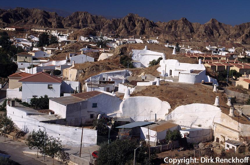 Wohnhöhlen in Guadix, Andalusien, Spanien