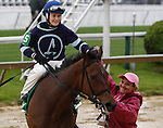 May 16, 2014:  Love Heart , ridden by Rosie Napravnik, heads to the winner's circle after winning the first race on Black-Eyed Susan Day at Pimlico Race Course in Baltimore, MD. ©Joan Fairman Kanes/ESW/CSM