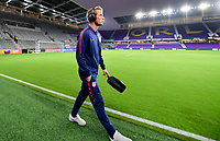 ORLANDO, FL - NOVEMBER 15: Jackson Yueill #14 of the United States walks onto the field during a game between Canada and USMNT at Exploria Stadium on November 15, 2019 in Orlando, Florida.