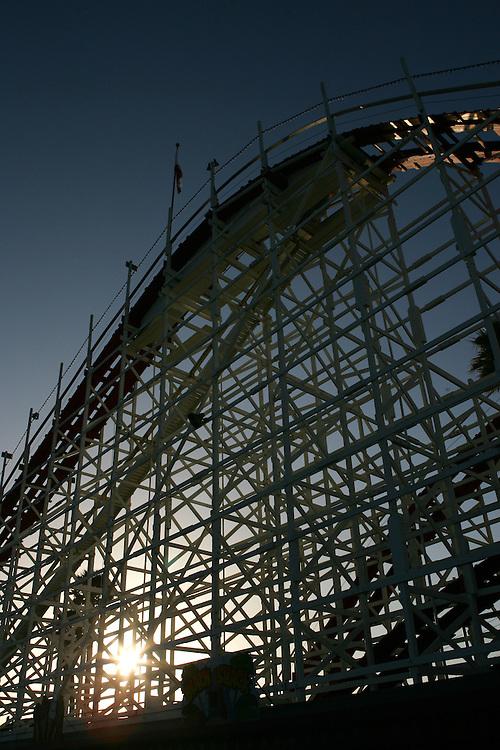 May 21, 2007; Santa Cruz, CA, USA; A roller coaster at the Santa Cruz Beach Boardwalk in Santa Cruz, CA. Photo by: Phillip Carter